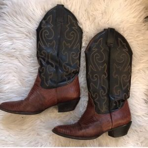Vintage Hunt Club Leather Cowboy Boots